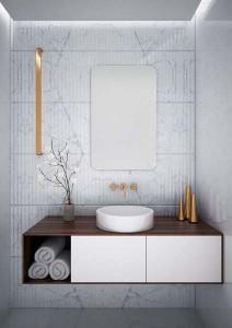 The White Space Kalm Non-Illuminated Mirror 50 x 80cm  [WSM105]