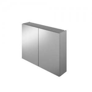 The White Space Scene 60cm Double Door Mirror Cabinet - Gloss Ash Grey  [WSSMC60AG]