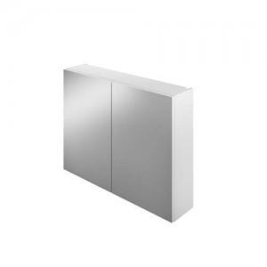 The White Space Scene 60cm Double Door Mirror Cabinet - Gloss White  [WSSMC60WH]