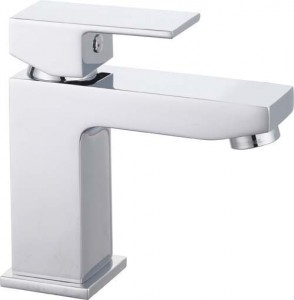 The White Space Forte Monobloc Basin Mixer with Sprung Plug Waste - Chrome [WSTF01]