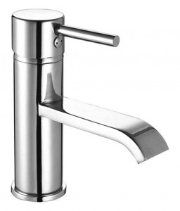 The White Space Fall Monobloc Basin Mixer with Sprung Plug Waste - Chrome [WSTF51]