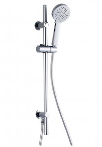 The White Space Slide Rail Kit Round head - Includes wall integrated outlet - Chrome [WSV003]