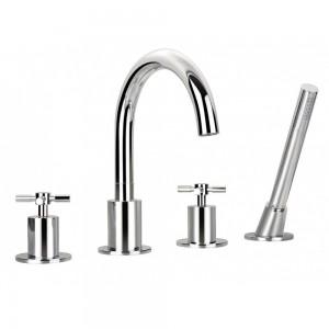 Flova XL4HBSM XL 4-Hole Bath & Shower Mixer with Shower Set