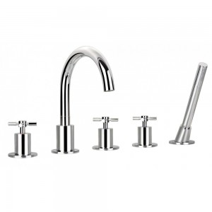 Flova XL5HBSM XL 5-Hole Bath & Shower Mixer with Shower Set