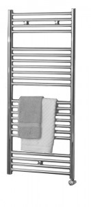 Zehnder ZSLE120050DF Klaro Electric Straight Ladder Radiator 1148 x 500mm 500w & IPX4 DBM Immersion Traffic White (Standard)