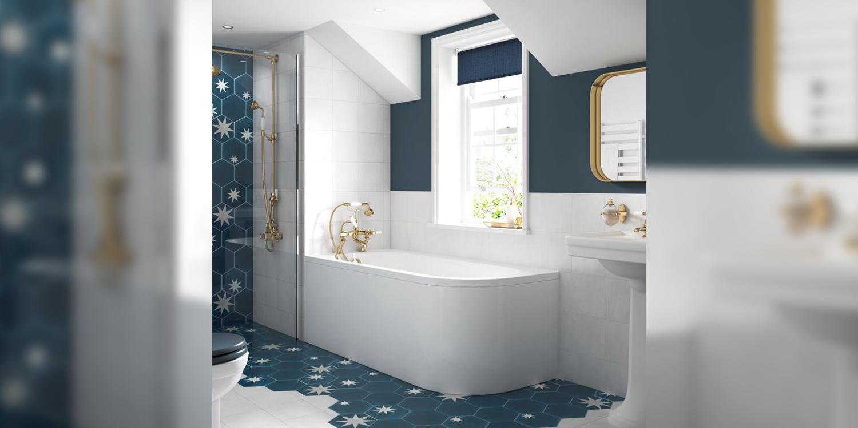 designer corner bath, corner bath shrewsbury