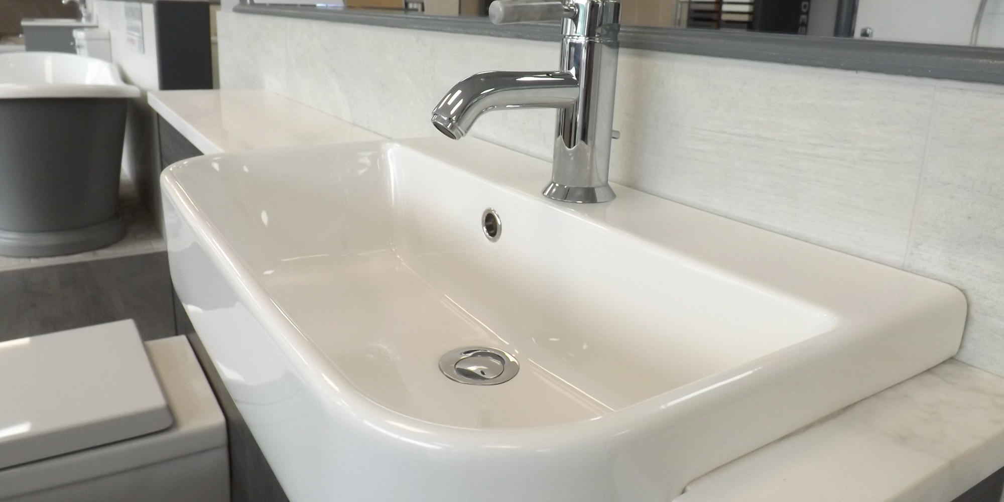 basin, sink display, bathroom showroom, welshpool bathroom