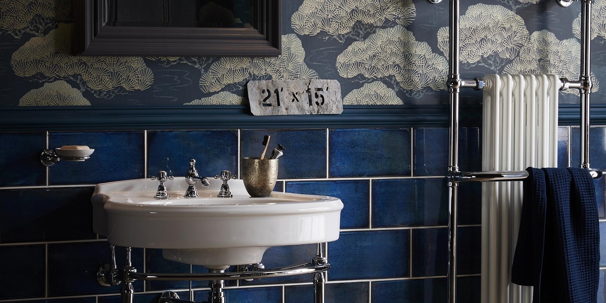 designer bathroom, heritage basini