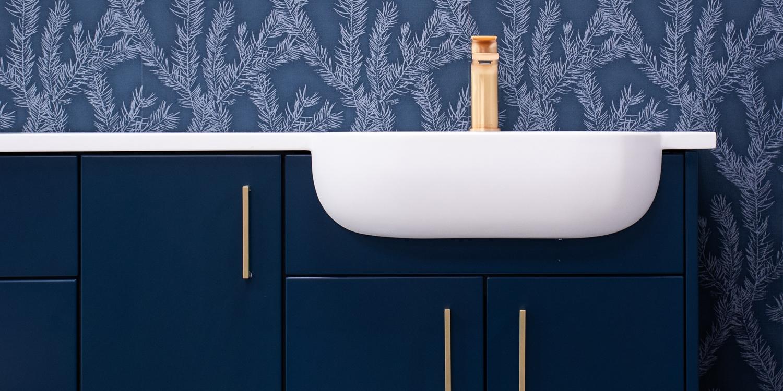 recessed sink, wash basin shrewsbury, bathroom showroom shrewsbury
