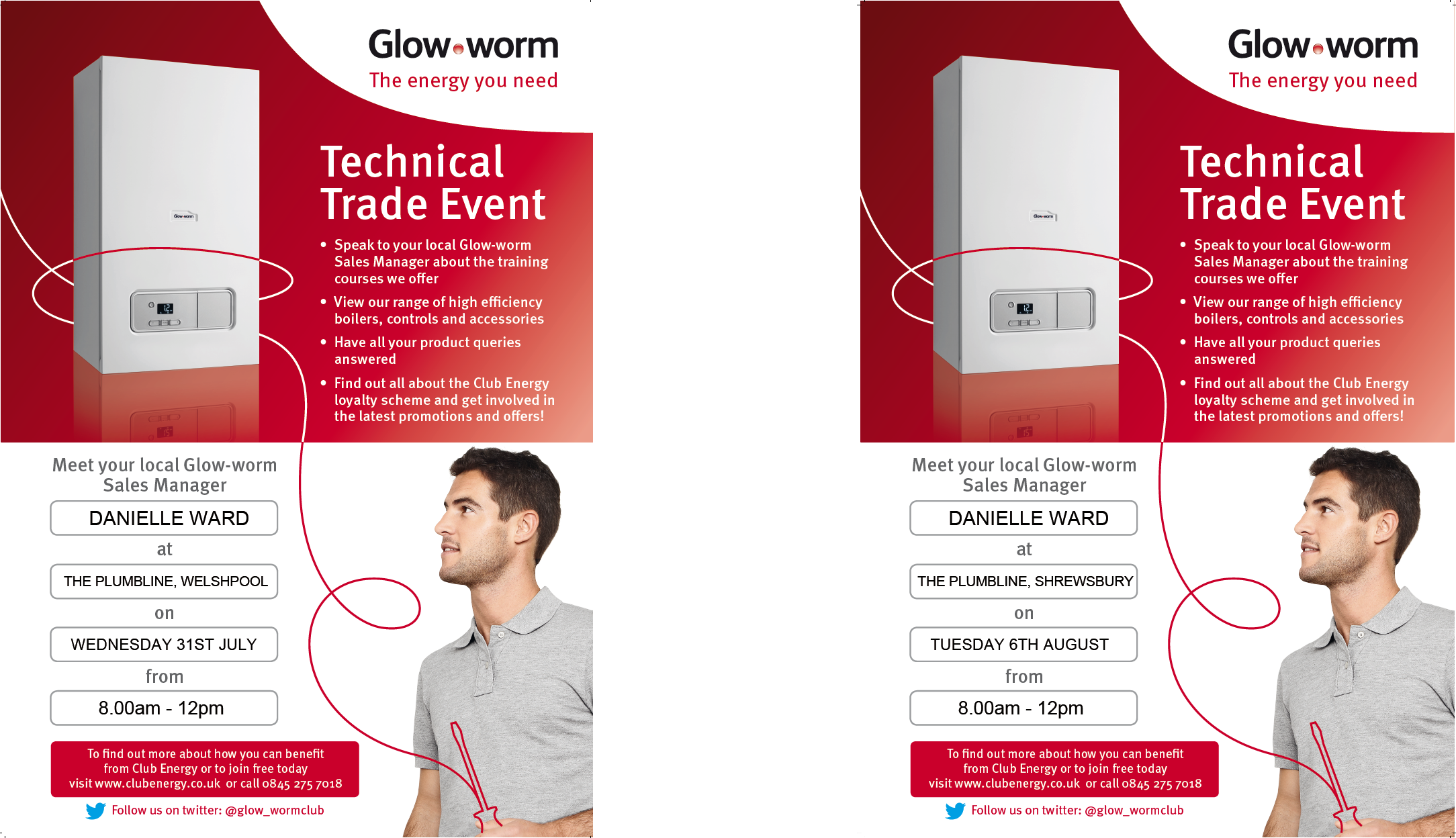 glow-worm technical trade event, boiler advice, boilers shrewsbury, boilers welshpool